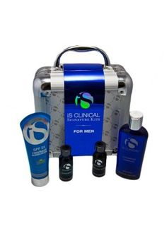 IS Clinical 4 Piece Signature Face Treatment Kit for Men by IS Clinical. $276.00. Hydra-Cool Serum (1 fluid ounce); Works to hydrate and nourish the skin, while providing intense protection with antioxidants.. Cleansing Complex (6 fluid ounce); This is a liquid-gel formula which contains vitamins that smooth and cleanse while preparing the skin for treatment and nourishment. Travel case; This shabby metal travel case features a velvet-like interior with mesh pockets...
