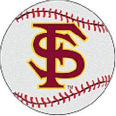 Fanmats Florida State Seminoles Baseball-Shaped Mat