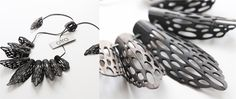 OTRA design (OTRA=On the road again) necklace - jewelry made from bicycles inner tubes