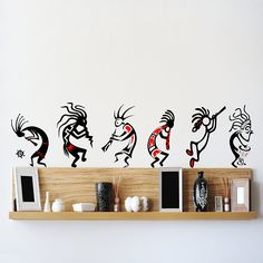 Buy DeStudio Kokopelli Band Wall Stickers (Wall Covering Area : 110cm X 75cm )-13585-D Online at Low Prices in India - Amazon.in