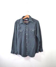 Western Shirt Cowboy Shirt Plaid Shirt Pearl by founditinatlanta