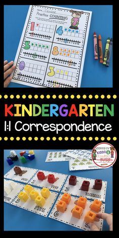 KINDERGARTEN MATH CENTERS - Kindergarten counting and cardinality - common core math - easy back to school math centers - roll and cover #Kindergarten #kindergartenmath #backtoschool