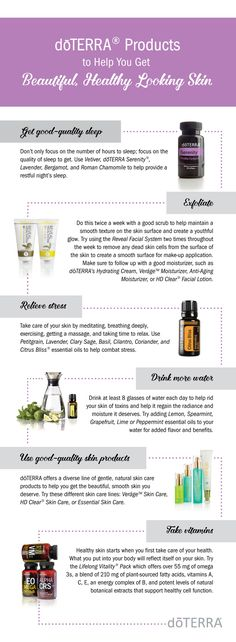 doTERRA products and tips to help you get beautiful, healthy looking skin