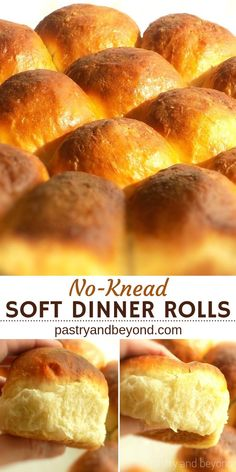 Five Approaches To Economize Transforming Your Kitchen Area No-Knead Soft Dinner Rolls-You'll Love This Easy And Delicious Recipe For Soft And Fluffy Dinner Rolls. They Are No-Knead, No-Machine Bread Rolls Quick Dinner Rolls, Fluffy Dinner Rolls, Dinner Rolls Recipe, Bread Recipes, Baking Recipes, Pizza Recipes, Dinner Bread, No Knead Bread, Bread Rolls