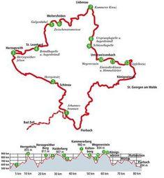 Pilgerwege müssen nicht immer eine lange Tradition haben. Ganz neu ist der Johannesweg im Mühlviertel, der am Johannistag (24. Juni) 2012 eröffnet wurde. Mit Wanderkarte. Juni, Map, Viajes, Projects, Location Map, Maps
