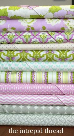 heather bailey fat quarter bundle love these colours...am thinking summer dresses...... :-))