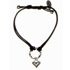 Hultquist Classic Silver Plated Black Cord Heart Charm Bracelet Now Only £16.50 Lizzielane.com http://www.lizzielane.com/product/hultquist-classic-silver-plated-black-cord-heart-charm-bracelet/