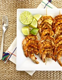 Spicy Lime Grilled Shrimp @Flavor the Moments