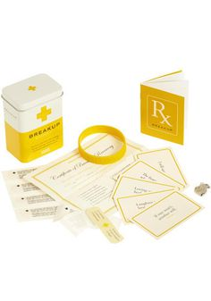 Playful take on self-help- The 'I Will Survive Kit' Helps Battle the Break-Up Breakup Kit, Sad Day, First Aid Kit, More Than Words, Desk Accessories, Packaging Design Inspiration, Diy Kits, Facebook Sign Up, Birthday Wishes