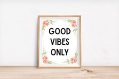 Good Vibes Only, Inspirational Quote, Boho Wall Art, Bohemian Art Print, Typography Art Print, Quote Wall Art, Good Vibes, Minimalist Art by naptimedesignco on Etsy https://www.etsy.com/listing/279733696/good-vibes-only-inspirational-quote-boho