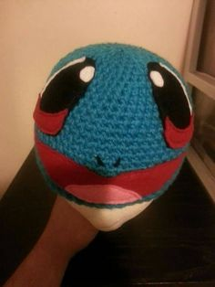 Crochet Pokémon #007 Squirtle inspired adult child infant size character beanie hat by MrsTsCrochet on Etsy