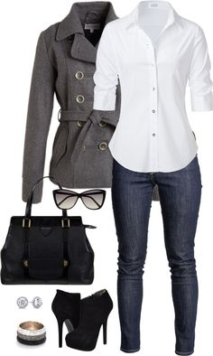 """Clean Classic Outfit"" by maria-garza on Polyvore"