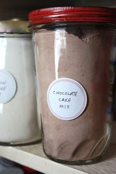 Vanilla and chocolate cake mix from scratch. Cost effective time saver.