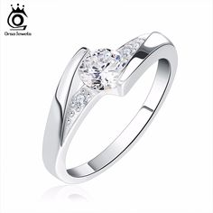 ORSA JEWELS Lead & Nickel Free Women Silver Color Ring with AAA Austrian Crystal Elements 2017 Hot Sell CZ Rings Wholesale OR02-in Rings from Jewelry & Accessories on Aliexpress.com | Alibaba Group