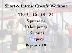 Crossfit workout.