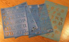 Simply Stencils by Plaid Alphabet Lot of 5   eBay