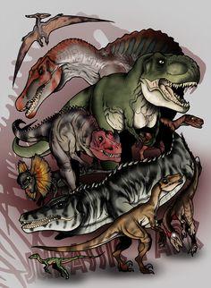 Jurassic Park Bestiary - The Predators by The-Alienmorph.deviantart.com on @deviantART