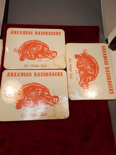OLD #VINTAGE ARKANSAS #RAZORBACKS GO #HOGS GO! HOT/WALL PLAQUES| eBay