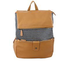 Little Black Bag | Navy Striped Backpack by Nila Anthony