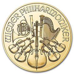 Coin: 2016 At Austria Philharmonic - 1/25 Oz .9999 Pure Gold Coin - 4 Euro Brilliant Uncirculated Bu