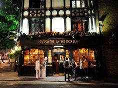 greetingsfrombritannia:    The Coach and Horses pub - Mayfair, London.  Paul Hogie
