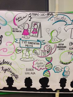 Graphic facilitation of talks given at Valuable Work Life Seminar in Helsinki, Finland.
