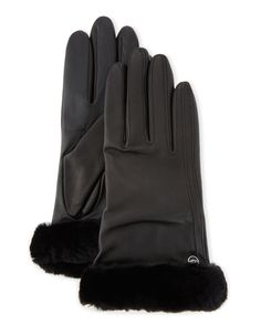 Carry Forward Classic Leather Smart Gloves, Black