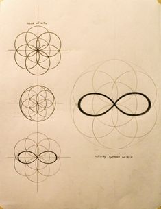 Infinity symbol within the Flower of Life. The perfect place to start creating balance and harmony in your life. Sacred Geometry Symbols, How To Draw Sacred Geometry, Seed Of Life, Tatoo Art, Infinity Symbol, Infinity Cross, Double Infinity, Flower Of Life, Grafik Design
