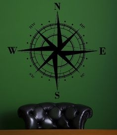Nautical Compass  vinyl decal sticker by twiceasnicelettering, $19.00 hmmm. This could be very helpful....
