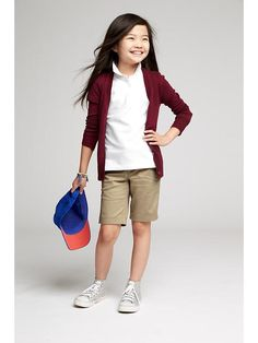 Girls Uniform Pique Polos