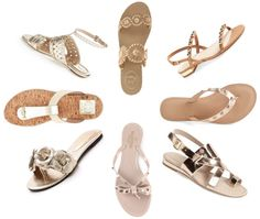 a collection of the best gold sandals + nude sandals this season! jack rogers, valentino, tory burch, jeffrey campbell, rebecca minkoff, via spiga