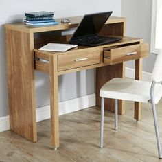 Extendable Console Table Writing Desk With Drawers Retractable Shelf On Wheels