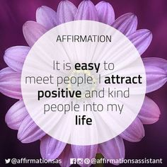 Healing from Abusive/Toxic Relationships — Affirmation to bring Positive People into your. Daily Positive Affirmations, Morning Affirmations, Love Affirmations, Law Of Attraction Affirmations, Louise Hay Affirmations, Positive People, Positive Thoughts, Positive Vibes, Positive Quotes