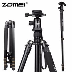83.85$  Watch now - http://alivpx.worldwells.pw/go.php?t=32493036467 - New Zomei Z688 Aluminum Professional Tripod Monopod For DSLR Camera With Ball Head / Portable Camera Stand / Better than Q666 83.85$