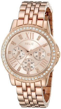 Relic Women's ZR15755 Layla Rose Gold Watch ** Want additional info for the watch? Click on the image.
