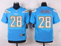 bdfa7edcb Los Angeles Chargers Melvin Gordon sky jersey 44 L sz  fashion  clothing   shoes