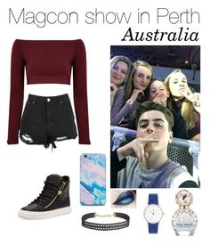 """Magcon 2016"" by vasilikiv ❤ liked on Polyvore featuring Glamorous, Giuseppe Zanotti, Humble Chic and Marc Jacobs"