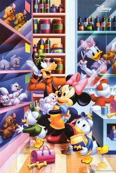 Minnie & Friends at the pet shop.