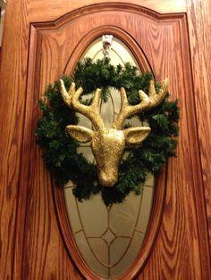 Christmas deer wreath.