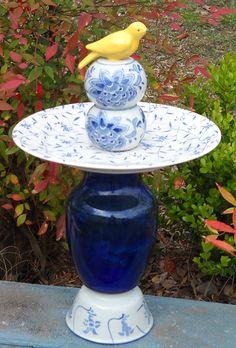 Recycled Glass Yard Art   Glass Garden Towers » Yard Art