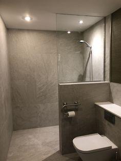 Wet Room With Bath, Tiny Wet Room, Wet Room Bathroom, Small Shower Room, Wet Room Shower, Bathroom Layout, Master Bathroom, Half Wall Shower, Bathroom Canvas