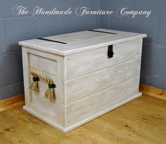 Large Storage Trunk With Rope Handles - Shabby Chic, £164.99
