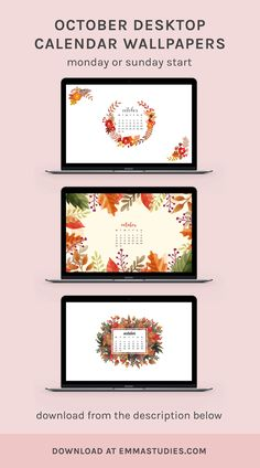 October fall autumn inspired desktop wallpapers by emmastudies