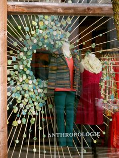 awesome window display at Anthropologie in Birmingham,MI