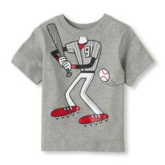 The Childrens Place - He'll look like a real baseball star in this tee!