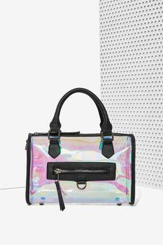 Nasty Gal x Nila Anthony Can't Hide It Hologram Speedy Bag