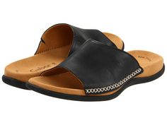 http://janepilebni.tumblr.com, Gabor Gabor 43. 705 - Slide into style and comfort with these Gabor? sandals. Premium leather upper with contrast stitching. Slip-on design for quick and easy on and off. Soft leather lining and a suede-covered footbed provide all-day comfort. Durable rubber outsole. Imported. Product measurements were taken using size 39 (US Women's 8. 5) Medium. Please note that measurements may vary by size.