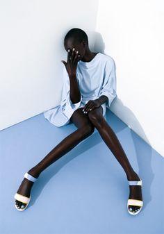 Aluad Deng Anei by Javier Lovera for Bon Bon Magazine