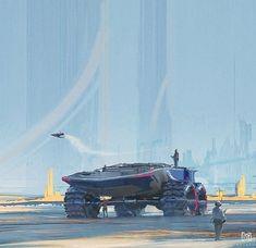 thecollectibles:Art by Fred Palacio - Our Sci-Fi Future Space Fantasy, Sci Fi Fantasy, Colani Design, Cyberpunk, Futuristic Art, Futuristic Vehicles, Game Character Design, Science Fiction Art, Environment Design