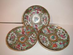 Rose Medallion plates part of the 55 piece China Trade Atkins-Kent collection. At Chatham Historical Society, Chatham, MA. #chathamhistoricalsociety, #atwoodhouse, #atkinskent, #china, #chathamtochina, #plates. #chatham, #capecod
